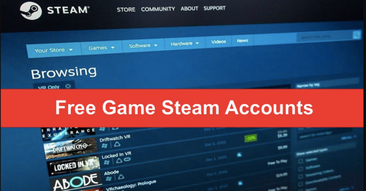 FREE steam accounts 2021